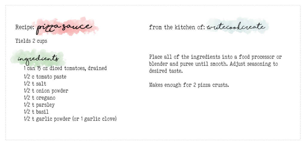 pizza sauce recipe