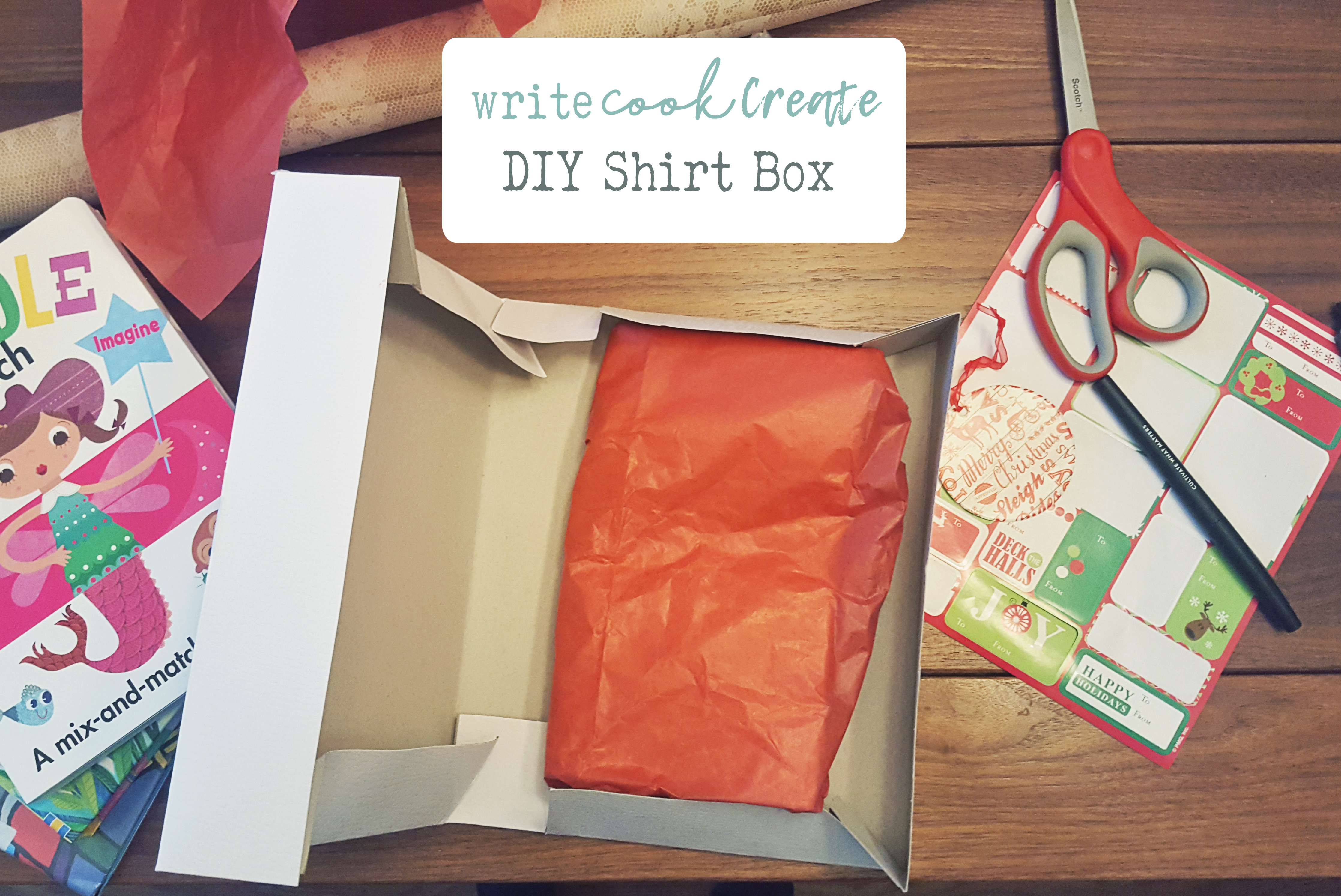 DIY – Create custom box from shirt box