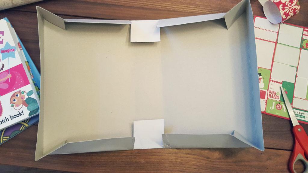 diy shirt box folding cutting