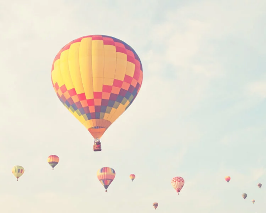 hot air balloon, balloon festival, colorful balloon