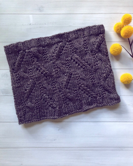 knit, knitted, cowl, purple, handknit