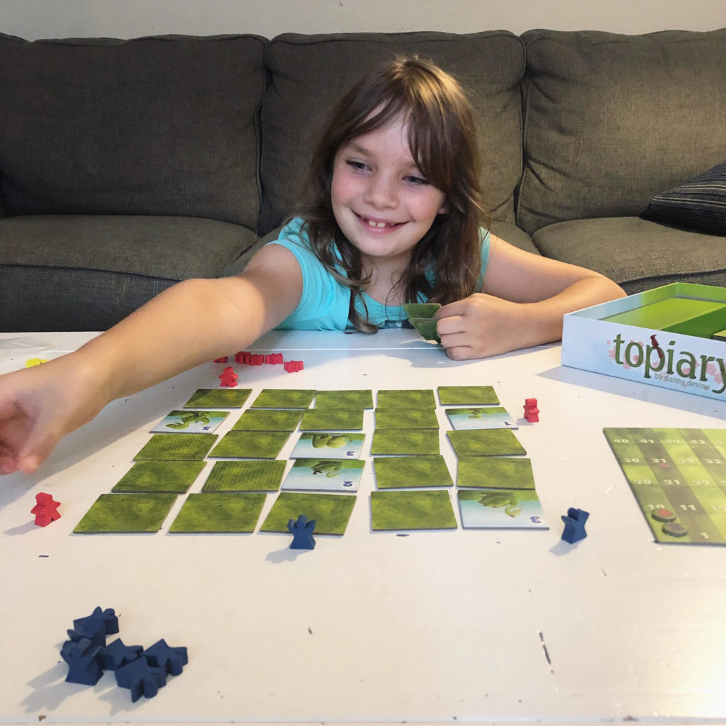 topiary, meeples, family game, board game, gamers, board gamers